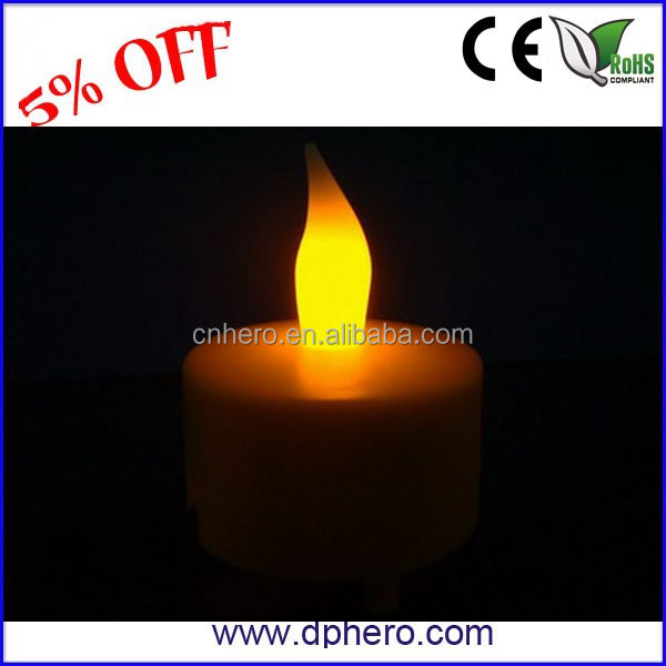 Mini changing color christmas candle led light