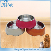 High quality custom anycolor stainless steel pet dog water bowl