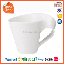 BSCI Factory Wholesale BIg Bulk Plastic Melamine White Coffee Mug