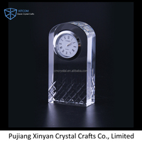 High Quality Wedding Favor Crystal Table Clock