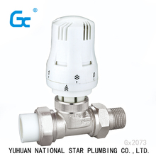 Brass radiator PPR thermostatic mixing angle temperature control valve price