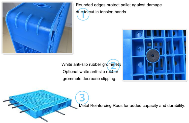 1200*1200mm Vented Top Double Face Plastic Pallets