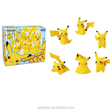 Pikachu Pokemon Go figure toys 6 pcs in one box