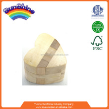 2016 new Chinese Rings kongming lock Wooden Brain IQ trainning Magic Interlocked toy