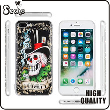 2017 New Pattern Anti-Gravity Phone Case Nano Hands-Free Selfie Clear Protective Case Stick to Mirror Glass For iphone 7 6s