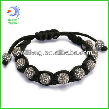 new arrival beads to make promotional bracelets shamballa bracelet