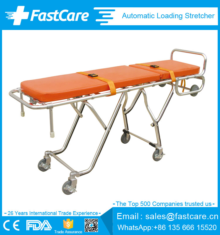 Emergency alminum paramedic stretcher