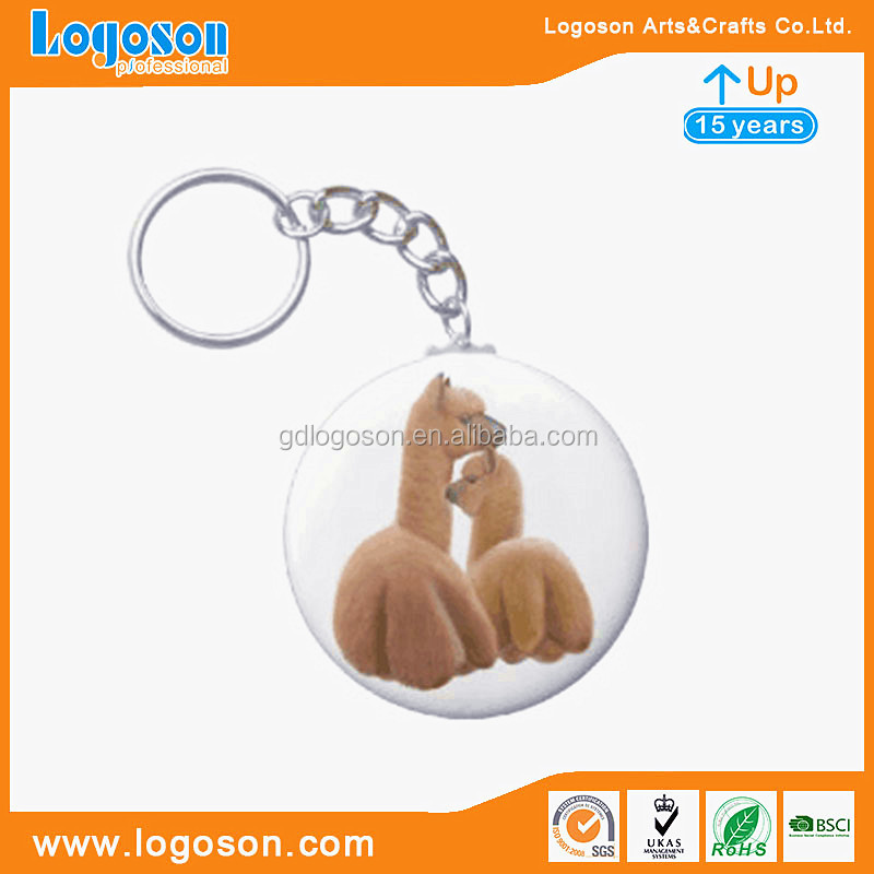 Zhongshan Factory Travelling Giftwares Billabong Keychain Metal Crafts Round Palm Key Chains