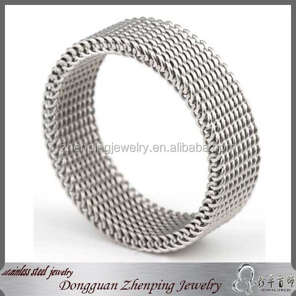 Dongguan stainless steel jewelry metal mesh ring