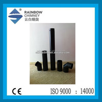 CE enamel single wall welded chimney flue pipe for stove and fireplace