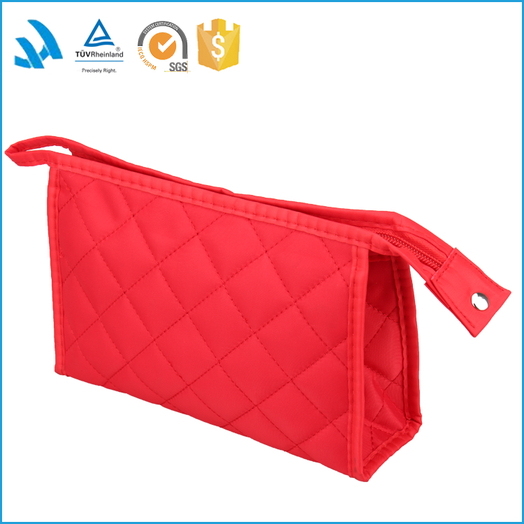 2017 new trend soft cotton make up bag red cosmetic bag