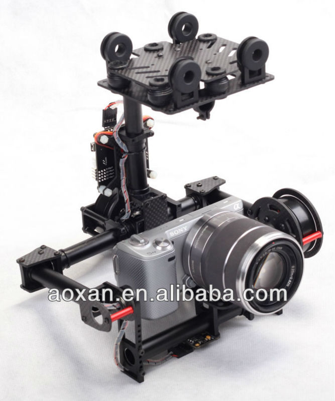 2015 new fashion :2 Axis Brushless Gimbal For mini SLR camera mount