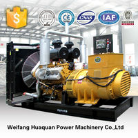 Great diesel engine powered Global Warranty 1mw power generator