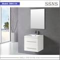 White small hanging bathroom vanity cabinet