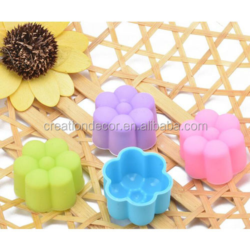 3cm lovely flower jelly molds mini cake baking cup