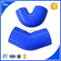 high performance heat resistance fexile 45 degree reducer silicone hose