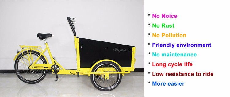 New bakfiets 3 wheel electric cargo bike for sale