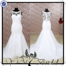 RQ058 Transparent Back Plus Size Western Style Wedding Dresses For Mature Women
