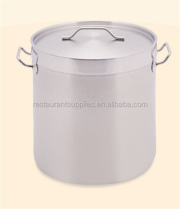 Commercial Cookware Stock Pot Double Ears Stainless Steel Pot High Soup Pot With Thicken Bottom