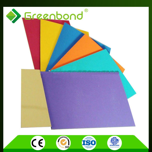 Greenbond roof cladding materials corrugated plastic outdoor sign panel aluminum composite sheet