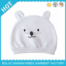 2015 hot sale organic cotton baby hats, baby hat pattern, baby hat with hair