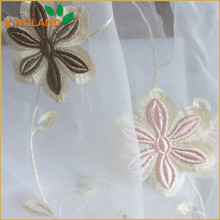 Latest Curtain Designs Flower Embroidery Organza Curtain Drapery