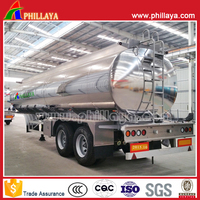 Aluminium petrol tanker semi trailer,oil tanker trailer,truck aluminum fuel tanks for sale