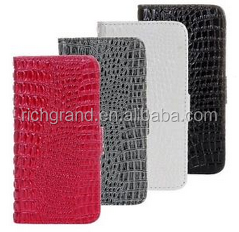 Card Holder Wallet PU Leather Case Cover For iPhone5S