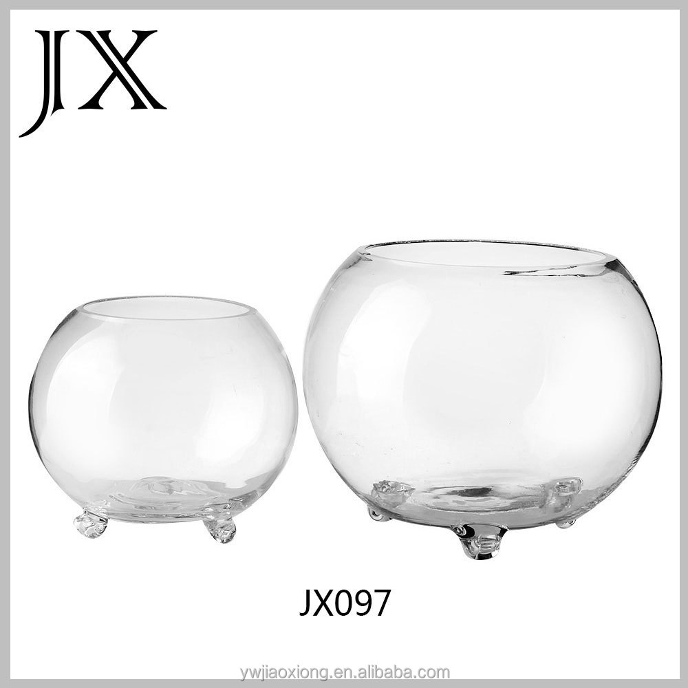 Round glass fish tank with 3legs glass fish bowl for sale for Fish bowl price