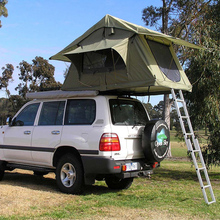 Aluminum Materials Pole Car Removable Roof Top Camper Tent with Awning for Sale Made in China