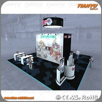 Aluminum extrusion trade show standard event cometic exhibition booth