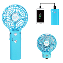 Small Electrical Personal Power Bank Handy held Folding Mini Fan Rechargeable
