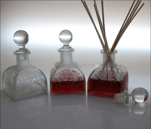 Tent shape aroma glass diffuser bottle and rattan reed wholesale
