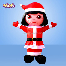2014 Hot Selling Giant Christmas Inflatable girl, inflatable carton