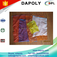 plastic pe fruit drawstring mesh bag for potato