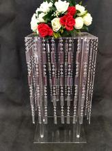 cheap crystal wedding flower stand centerpieces for party decoration