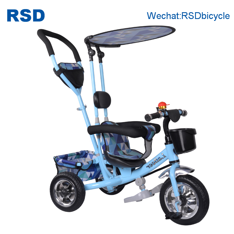Double Baby walker Trike / Kids Tricycle Two Seat / Double Tricycles for Children with trailer