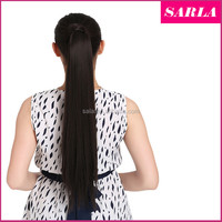 "Wholesale Ponytail Hair Extension 24""60cm Women Long Straight Ponytails Clip in Hair Extensions Wrap Clip Ponytail P001"