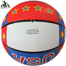 good quality rubber personalized basketball