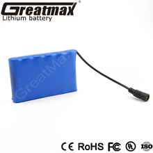 Rechargeable 19.2V 3Ah lifepo4 6S 26650 deep cycle battery pack for power tools