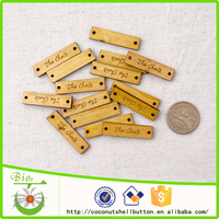 40x10mm customized natural wood gift tags wholesale