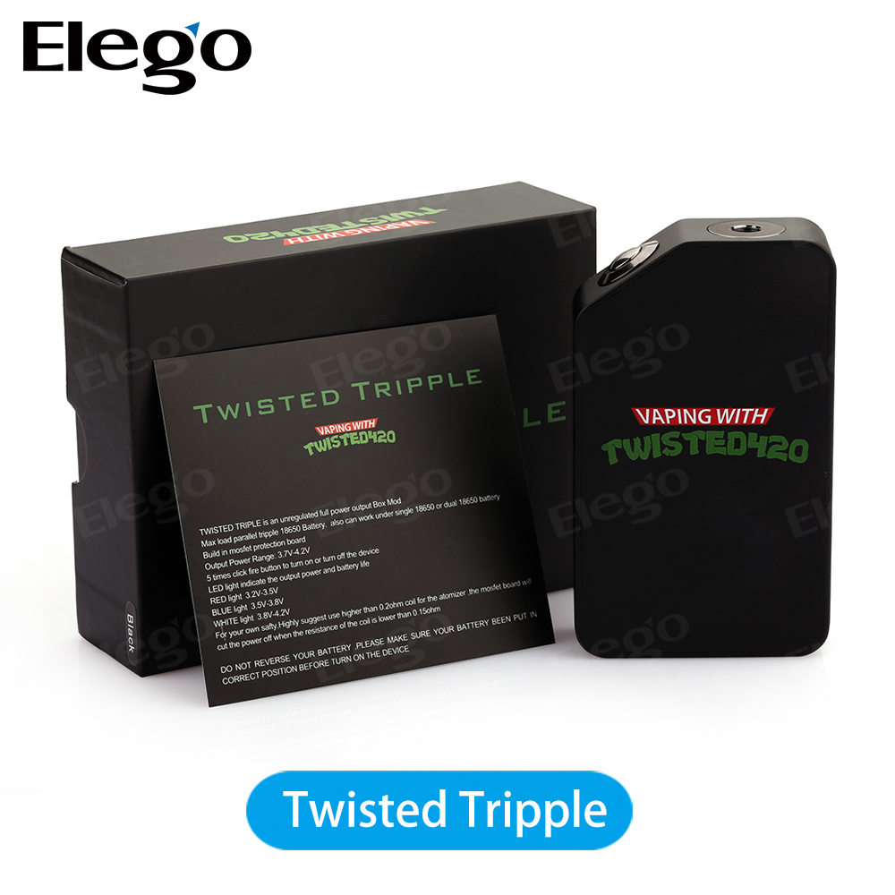 In Stock! Elego New Wotofo Twisted Tripple Mod With Build In Mosfet Protection Board