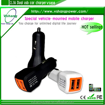dual charger station,car charger with CE ROHS FCC