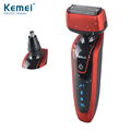 Kemei KM5888 New 2 in 1 Electric Shaver & Nose Hair Trimmer 3D Reciprocating Men's Razor