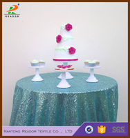 fancy 108''R 100% polyester cheap whosale round sequin tablecloths wedding sequin table cloth