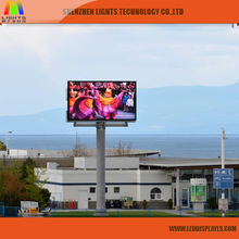 SMD LED Display Screen Fixed Electronic Message Centers Traffic Signs P10 Solar Power Outdoor LED Sign