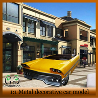 Large size Classic antique metal model car collections for home decoration handicraft metal car