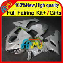 Body+100%NEW NEW Pearl White For KAWASAKI 05-06 NINJA ZX 6R 636 #960 ZX636 ZX-6R WHITE ZX6R 05 06 2005 2006 Fairings