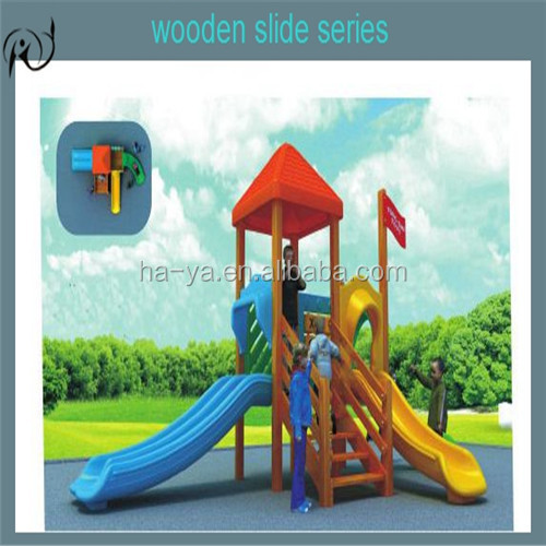 Exercise Wood House Playground Euqipment, Kids Outdoor Playhouses for sale