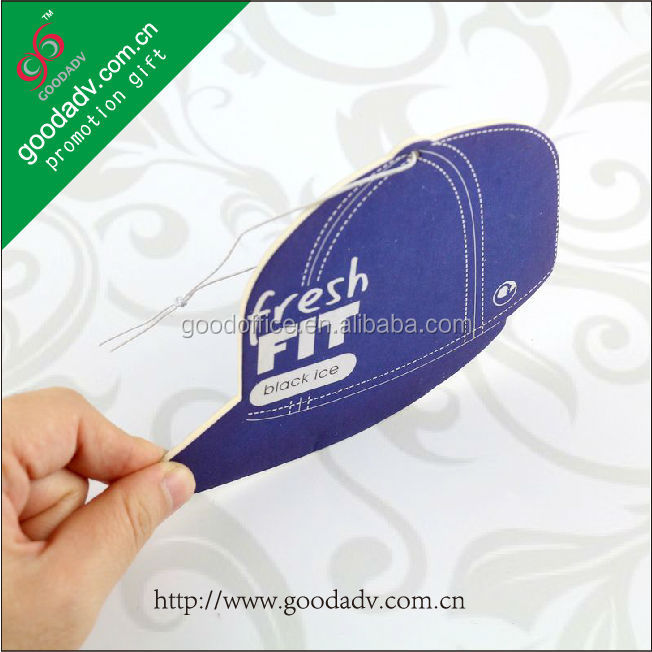 Factory manufacture promotional gifts cheap car perfume paper / car paper air freshener